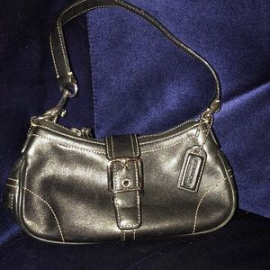 Black coach mini purse style 7542